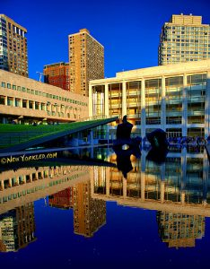 Lincoln Center for the Performing Arts photographed near sunset.