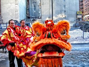 All dressed up for the Chinese Lunar New Year Celebrations in NYC.