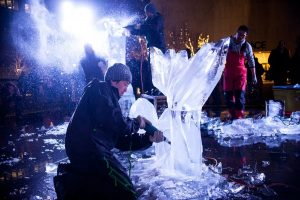 Okamato Studio's Grace-ful Ice: Dogs Carved Out of Ice - Live at the Grace Building @ Grace Building | New York | New York | United States
