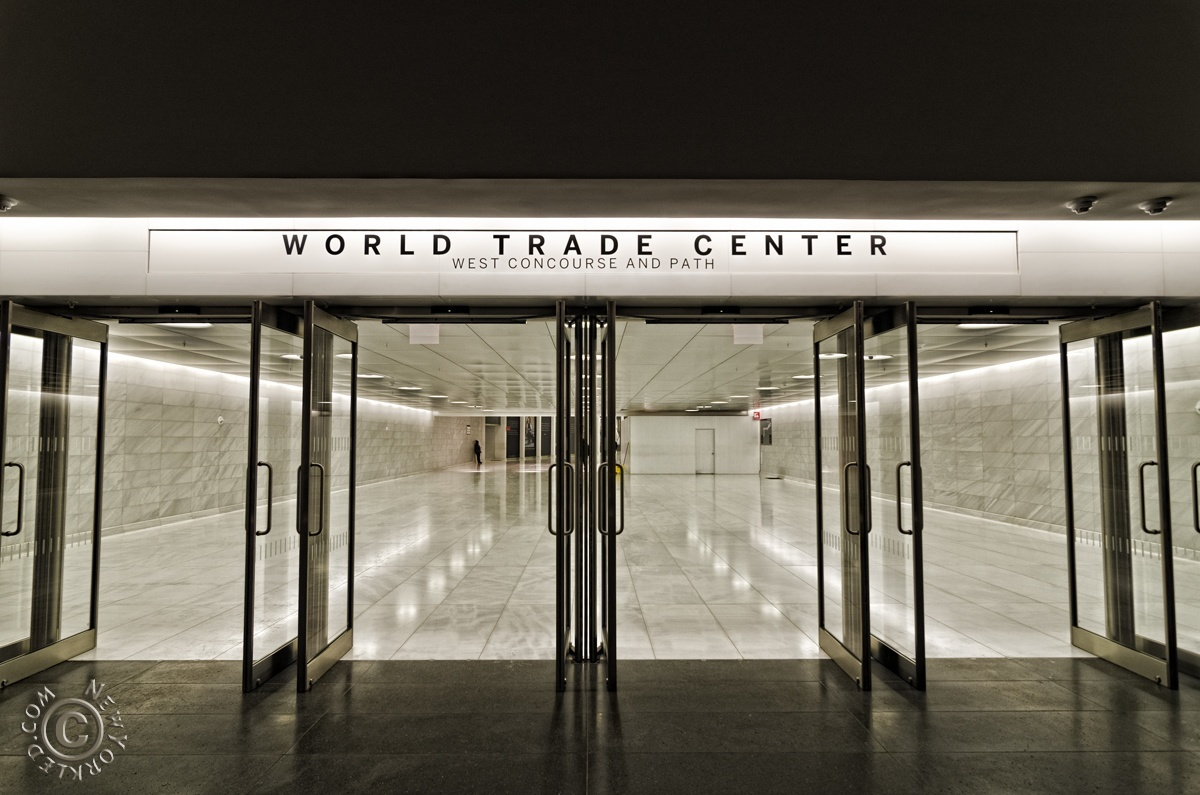 Editorial / Personal Use ONLY - Doors leading from Brookfield Place to the World Trade Center's PATH Tunnel.