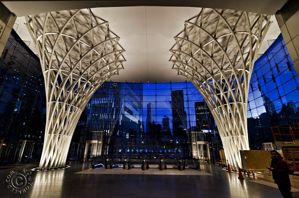 Editorial / Personal Use ONLY - The Brookfield Place Glass Pavilion found at one end of the WTC PATH Train Tunnel.