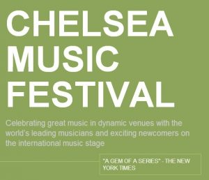 Chelsea Music Festival Evening Events JUNE 9, MONDAY @ New York | New York | United States