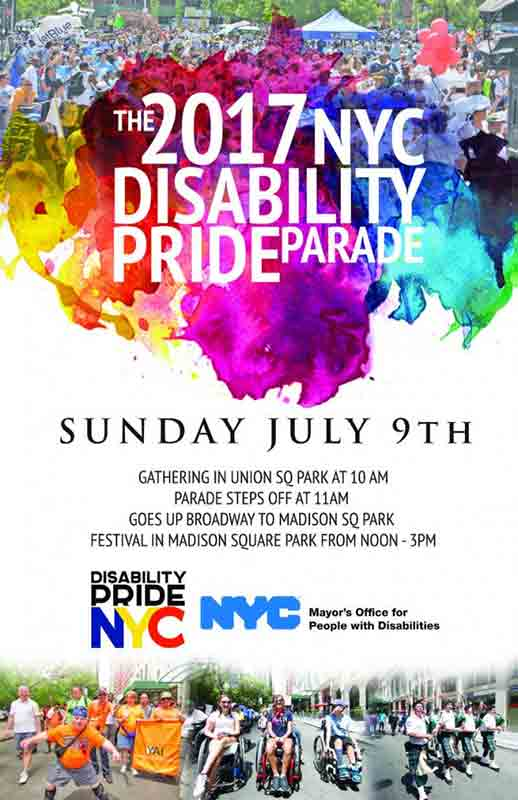 Third Annual Disability Pride NYC Parade @ New York | New York | United States