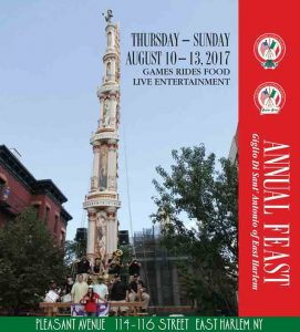 Annual Feast of Giglio Di Sant Antonio of East Harlem 2017 @ New York | New York | United States
