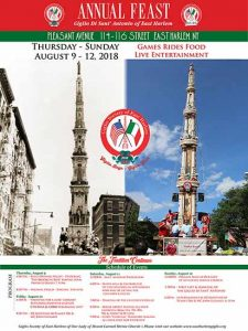Annual Feast of Giglio Di Sant Antonio of East Harlem 2018 @ New York | New York | United States