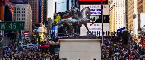 SEE KEHINDE WILEY'S FIRST MONUMENTAL PUBLIC SCULPTURE RUMORS OF WAR IN TIMES SQUARE @ Broadway Plaza | New York | New York | United States
